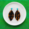 handmade womens tortoise marquise earrings katie bartels