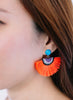handmade designer womens orange medina earrings katie bartels