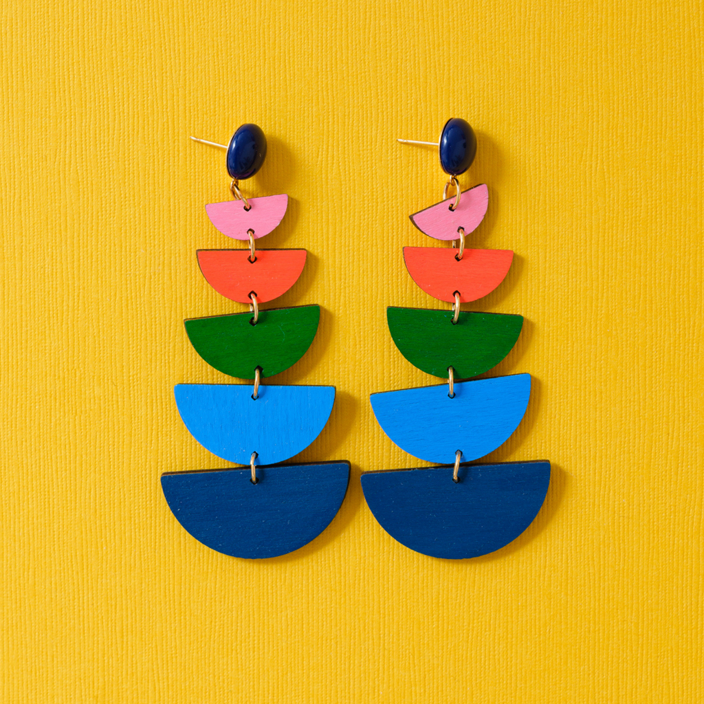 handmade womens colorful geometric earrings katie bartels