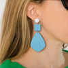 Handmade designer womens colorful geometric earrings katie bartels