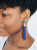 womens mounia earrings royal blue long katie bartels