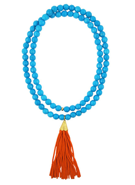 womens turquoise mounia necklace katie bartels