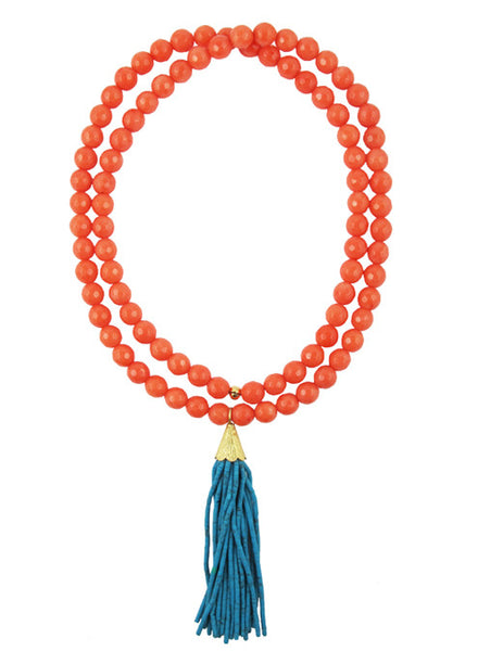 womens coral mounia necklace katie bartels