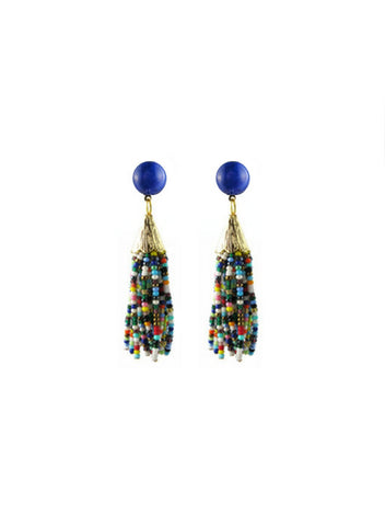 handmade designer womens mounia earrings multicolor short katie bartels