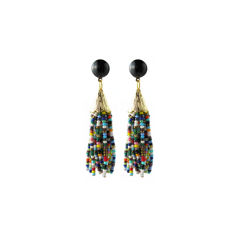 Mounia Earrings, short multicolor