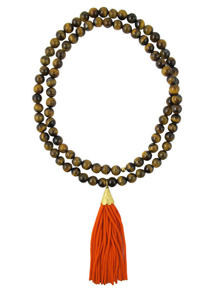 womens brown tigerseye mounia necklace katie bartels