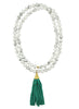 womens white howlite moon necklace katie bartels