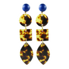 handmade designer womens multi shape tortoise earrings katie bartels