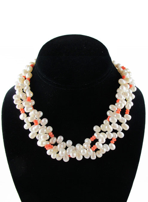 womens coral olivia necklace katie bartels