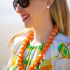 handmade womens orange statement necklace katie bartelsck