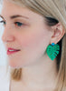 womens green palmira earrings katie bartels