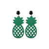 handmade designer womens green pineapple earrings katie bartels