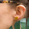 Pineapple Stud, yellow
