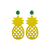 Pineapple Earrings, yellow