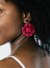 womens pink circle preeti earrings katie bartels
