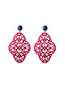 womens fuchsia pink preeti earrings katie bartels