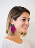 handmade designer womens fuchsia pink preeti earrings katie bartels
