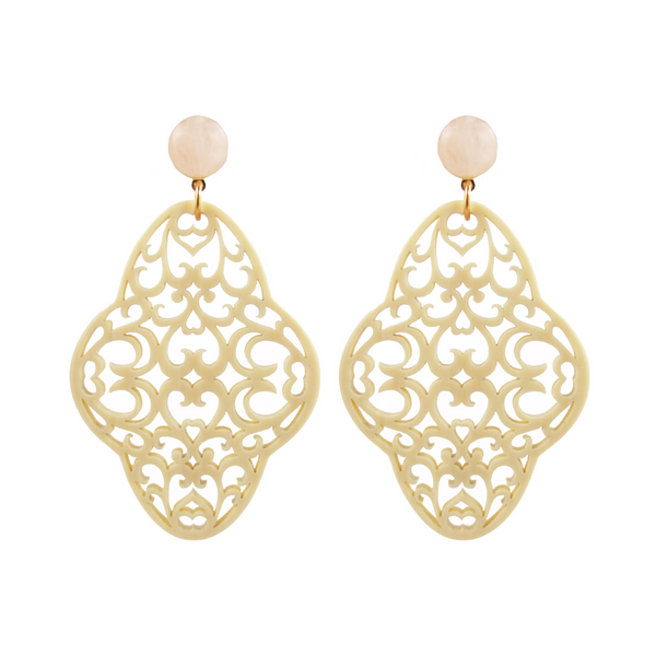 handmade designer womens white preeti earrings katie bartels