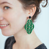 womens emerald green preeti earrings katie bartels