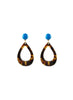 handmade designer womens tortoise shell radha earrings katie bartels