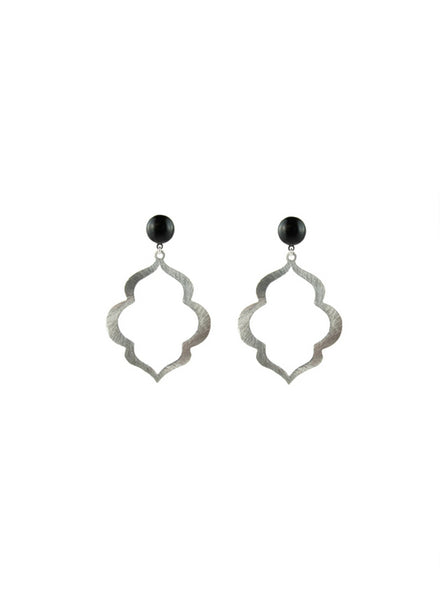 handmade designer womens small silver rania earrings katie bartels