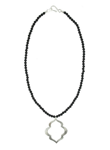 womens silver rania necklace katie bartels