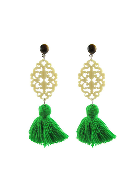 womens tigerseye and green reva earrings katie bartels