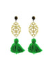 handmade designer womens tigerseye and green reva earrings katie bartels