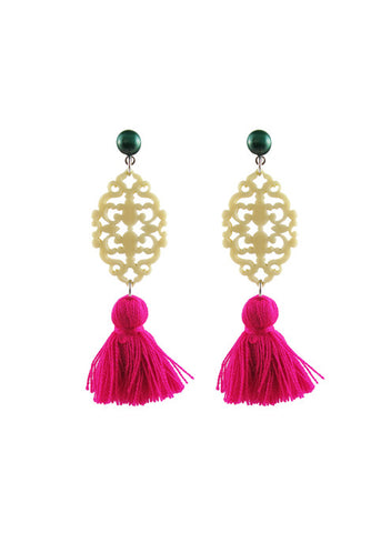 womens malachite and magenta reva earrings katie bartels