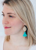 handmade designer womens onyx and turquoise reva earrings katie bartels