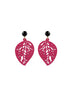 womens hot pink sarah earrings katie bartels