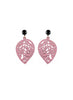 womens light pink sarah earrings katie bartels