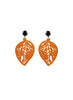 womens orange sarah earrings katie bartels