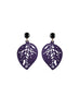 womens purple sarah earrings katie bartels