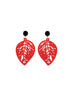 womens red sarah earrings katie bartels