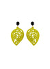 womens yellow sarah earrings katie bartels