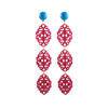 Satya Earrings, long pink
