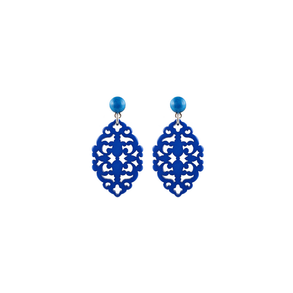 handmade designer womens blue Satya earrings katie bartels