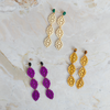 handmade womens colorful laser cut resin drop earrings katie bartels