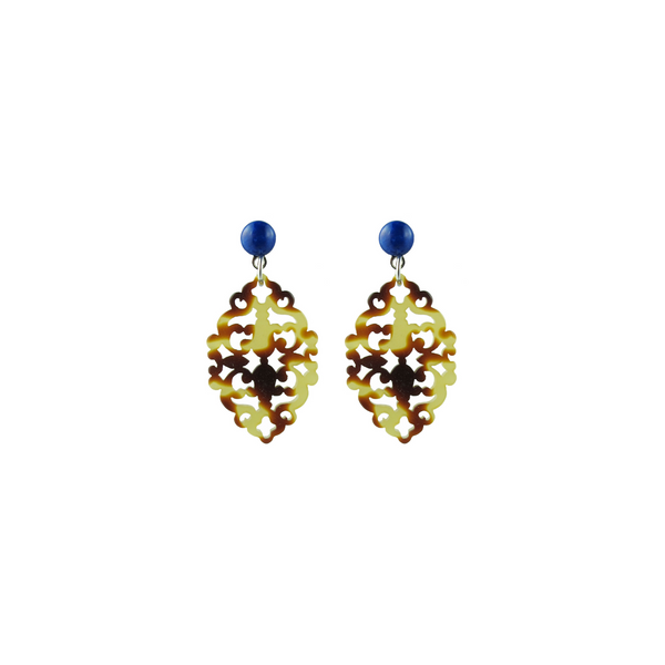 handmade designer womens tortoise Satya earrings katie bartels
