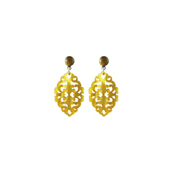 handmade designer womens yellow Satya earrings katie bartels