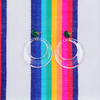 handmade womens clear semi open circle earrings katie bartels