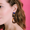 handmade womens tortoise squsre and teardrop earrings katie bartels