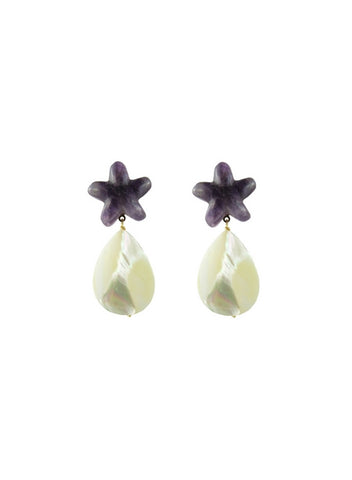 tiggy earrings, amethyst