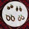 womens tortoise shell and green quartz earrings katie bartels
