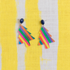 handmade womens rainbow holiday tree earrings katie bartels