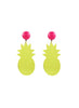womens clear yellow tropicana earrings katie bartels