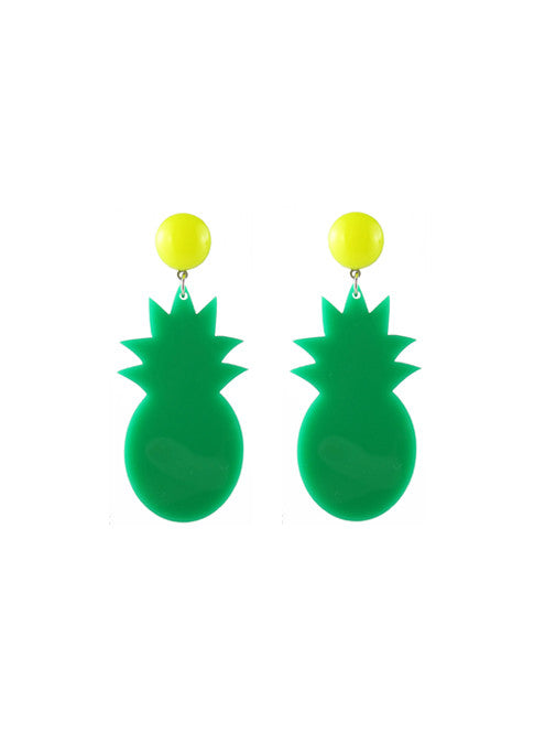 womens green tropicana earrings katie bartels