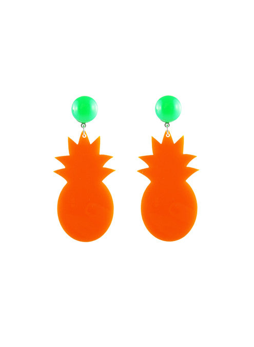 womens orange tropicana earrings katie bartels
