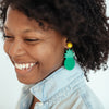 handmade desiger womens green tropicana earrings katie bartels
